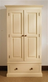 Mottisfont Painted Single Wardrobe 1 Drawer