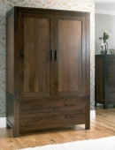 Lyon Walnut Large Double Wardrobe