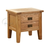 Vancouver Oak Petite 1 Drawer Lamp Table
