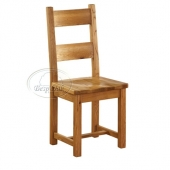 Vancouver Oak Petite Dining Chairs - Wooden Seat - Pair