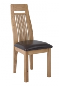 Croydon Oak Dining Chair with Leather Seat - Pair
