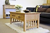 Hereford Rustic Oak Coffee Table