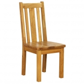Vancouver Oak Petite Dining Chairs with Timber Seats & Vertical Slats  - Pairs