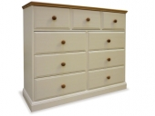 Intone Painted &amp; Oak 3 over 6 Chest - choice of colours