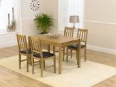 Casa Oak Dining Table -118cm &amp; 4 Casa Oak Dining Chairs