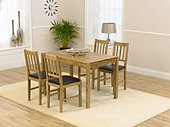 Casa Oak Dining Table -118cm & 4 Casa Oak Dining Chairs