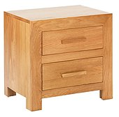 Cuba Solid Oak 2 Drawer Nightstand