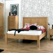 Lyon Oak Double Bedstead (Sprung Slats)