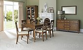 Sophia Oak 6-8 Extension Dining Table & 6 or 8 'X' Back Dining Chairs