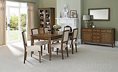 Sophia Oak 4-6 Extension Dining Table & 4 or 6 Upholstered Dining Chairs