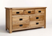 Westbury Reclaimed Oak 3 over 4 Chest of Drawers