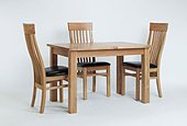 Sherwood Oak Small Extending Dining Table & 4 or 6 Sherwood Oak Slat Back Chairs