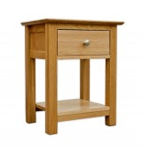 New Forest Solid Oak 1 Drawer Bedside