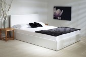 Madrid White Faux Leather Ottoman Bed - Small Double, Double, King Size or Super King Size