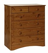 Scandi Pine 2+4 Drawer Chest
