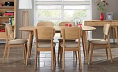 Oslo Oak 6 Seater Dining Table & Choice of 6 Dining Chairs